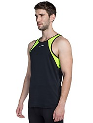 cheap -Men's Running Shirt - Black, Green Sports Tank Top Fitness, Gym, Workout Sleeveless Activewear Lightweight, Breathability Stretchy