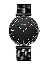 cheap -CADISEN Men's Wrist Watch Chinese Water Resistant / Water Proof / Casual Watch Stainless Steel Band Minimalist / Fashion Black / White /