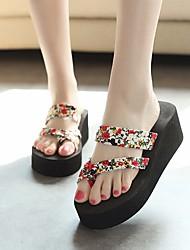 cheap -Women's Shoes EVA Summer Comfort Slippers & Flip-Flops Creepers Black / Beige / Blue