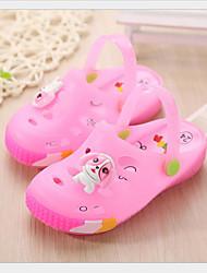 baratos -Para Meninas Sapatos PVC Verão Conforto Sandálias Laço para Ao ar livre Azul Rosa claro