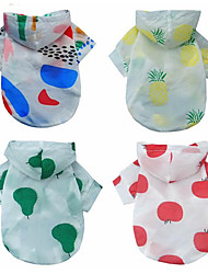 cheap -Dogs / Cats Coat / Hoodie Dog Clothes Color Block / Fruit Red / Rainbow Fabric Costume For Pets Female Simple Style / Fashion