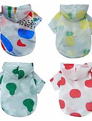 abordables -Chiens / Chats Manteaux / Pulls à capuche Vêtements pour Chien Couleur Pleine / Fruit Rouge / Arc-en-ciel Tissu Costume Pour les animaux