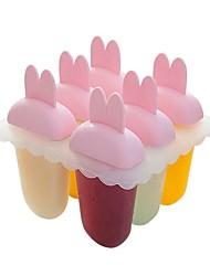 economico -Strumenti Bakeware Plastica Adorabile / Creativo per gelato Con animale Dessert Tools 6pcs