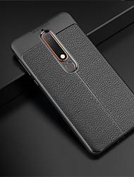 Недорогие -Кейс для Назначение Nokia 8 Sirocco / Nokia 6 2018 Рельефный Кейс на заднюю панель Однотонный Мягкий ТПУ для 8 Sirocco / Nokia 6 2018