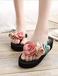 cheap -Women's Shoes EVA / Fabric Summer Comfort Slippers & Flip-Flops Wedge Heel Beige / Army Green / Pink