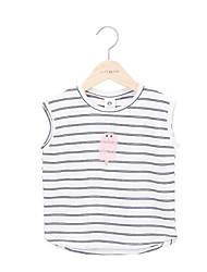 voordelige -Kinderen Meisjes Gestreept Mouwloos T-shirt