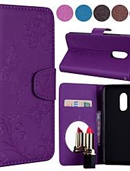 Недорогие -Кейс для Назначение Xiaomi Redmi Примечание 5A / Redmi Note 4 Бумажник для карт / Флип / С узором Чехол Однотонный / Бабочка Твердый Кожа PU для Redmi Note 5A / Xiaomi Redmi Note 4X / Xiaomi Redmi