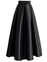 abordables -Mujer Activo / Básico Línea A Faldas Un Color