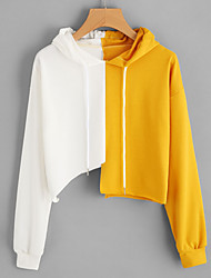 cheap -Women's Active / Street chic Hoodie - Color Block