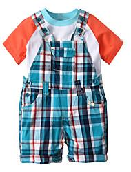 cheap -Baby Boys' Plaid / Patchwork Short Sleeve Clothing Set