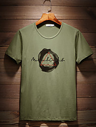 preiswerte -Herrn Solide - Aktiv / Street Schick T-shirt