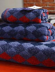 Недорогие -Высшее качество Набор банных полотенец, Геометрический принт Полиэстер / Хлопок 3 pcs