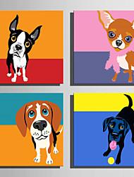 abordables -Estampado Impresiones en Lienzo Estirado - Animales Caricatura Modern