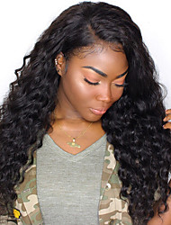 cheap -Unprocessed Human Hair Wig Brazilian Hair Wavy Side Part 250% Density With Baby Hair Unprocessed Natural Hairline Natural Short Long Mid