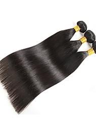 Недорогие -Малазийские волосы / Индийские волосы Прямой Человека ткет Волосы / Накладки из натуральных волос Ткет человеческих волос Лучшее качество