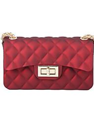 cheap -Women's Bags Silica Gel Shoulder Bag Buttons Dark Blue / Purple / Light Gray