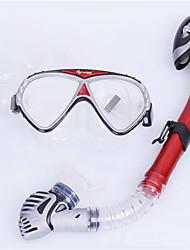 billiga Sport och friluftsliv-WAVE Snorklingspaket / Dykning Paket - Dykmaske, Snorkel - Anti-Dimma, Explosionssäker, Mjuk Simmning, Dykning, Snorkelfenor Silikon, PVC