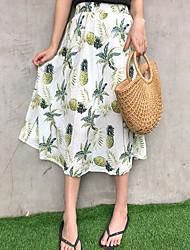 abordables -Mujer Noche Línea A Faldas Fruta Alta cintura