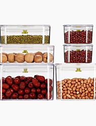 Недорогие -Высокое качество с Пластик / силикагель Консервирование / Крышки / Коробки для хранения Для приготовления пищи Посуда Кухня Место хранения 6 pcs