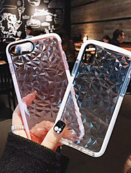 Недорогие -Кейс для Назначение Apple iPhone X / iPhone 8 Plus Защита от удара Чехол Однотонный Мягкий ТПУ для iPhone X / iPhone 8 Pluss / iPhone 8