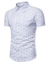 cheap -Men's Business Shirt - Polka Dot Print