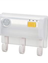 Недорогие -BRELONG® 1шт LED Night Light Белый Аккумуляторы AA Кухонный шкаф / Гардероб / чулан <5V