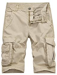 baratos -Homens Militar / Moda de Rua Shorts / Calças Esportivas Calças - Sólido