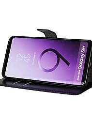 Недорогие -Кейс для Назначение SSamsung Galaxy S9 S9 Plus Бумажник для карт Кошелек Флип Чехол Однотонный Твердый Кожа PU для S9 Plus S9 S8 Plus S8