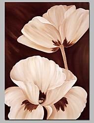 Недорогие -Hang-роспись маслом Ручная роспись - Натюрморт Цветочные мотивы / ботанический Современный холст