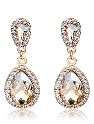 cheap -Crystal Long Drop Earrings - Drop Sweet, Elegant Gold For Wedding / Party / Evening