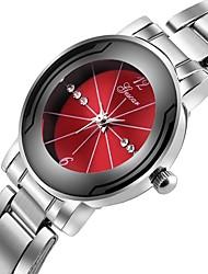 Недорогие -Муж. Нарядные часы Китайский Секундомер / Творчество / Крупный циферблат Нержавеющая сталь Группа Роскошь Серебристый металл / SSUO LR626