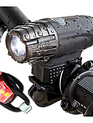 cheap -Front Bike Light LED Cycling Portable / Waterproof Li-ion 300lm Lumens White Cycling / Bike