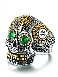 cheap -Cubic Zirconia Geometric Band Ring - Skull Vintage 8 / 9 / 10 Green For Party / Gift