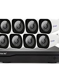 Недорогие -yanse h.265 8ch 1080p poe nvr комплект сетевая система безопасности видеозапись p2p обнаружение движения ip камера