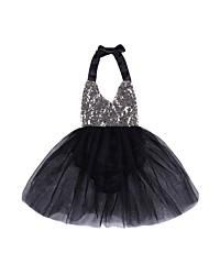 cheap -Baby Girls' Print Sleeveless Dress