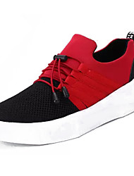 cheap -Women's Shoes Tulle / PU(Polyurethane) Spring / Fall Comfort Sneakers Low Heel Round Toe Black / Red