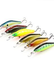 abordables -1pcs pcs Señuelos duros Señuelos duros Plásticos Pesca al spinning / Pesca jigging / Pesca de agua dulce