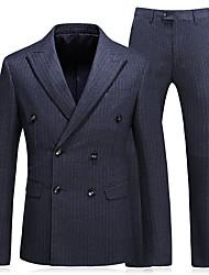 cheap -Men's Business Suits-Striped