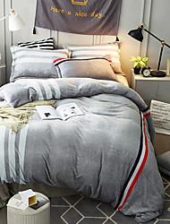 Недорогие -Пододеяльник наборы Stripes / Рябь Полиэстер Активный краситель 4 предмета