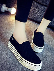 cheap -Women's Shoes Canvas Fall Comfort Loafers & Slip-Ons Creepers White / Black / Gray