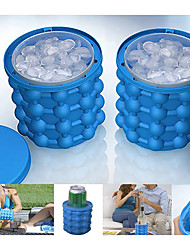 cheap -Ice Bucket & Wine Cooler Stretchy Silicon Outdoor for Camping Travel Blue