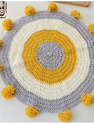 baratos -Os tapetes da área Casual Poliéster / Algodão, Circular Qualidade superior Tapete