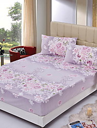 cheap -Fitted Sheet - Poly / Cotton / Cotton / Polyester Reactive Print Floral / Botanical 1pc Fitted Sheet