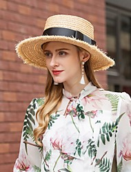 cheap -Natural Fiber Hats with Braided Strap 1pc Casual / Daily Wear Headpiece