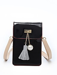 cheap -Women's Bags PU(Polyurethane) Shoulder Bag Tassel Black / Silver / Red / Laser Jelly Bags