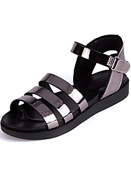 cheap -Girls' Shoes Leather Spring & Summer Comfort Sandals Buckle for Outdoor Gold / Silver