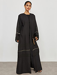 cheap -BENEVOGA Women's Street chic / Sophisticated Abaya - Solid Colored / Creative / Color Block, Patchwork