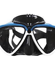 Недорогие -Очки для подводного плавания / Маска для снорклинга Противо-туманное покрытие, УФ-защита, Водонепроницаемый Дайвинг, Плавание Ластик,