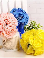 abordables -Fleurs de mariage Bouquets Mariage Mousse 11-20 cm