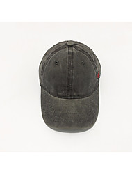 cheap -Men's Party Active Polyester Denim Sun Hat Baseball Cap - Solid Colored Patchwork